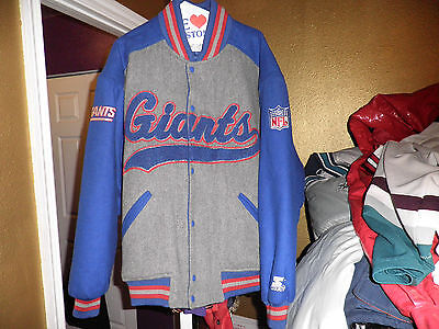 Vintage New York Giants Wool Varsity Throwback Starter Jacket XL Nice!
