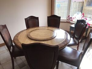 Beautiful Kitchen Table with Lazy Susan