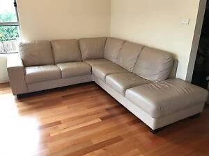 Big Corner Genuine Leather Lounge / Couch - Price Negotiable Burwood Burwood Area Preview