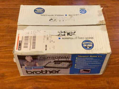 Brother Fax-575 Personal Plain Paper Fax Phone and Copier Factory Sealed New