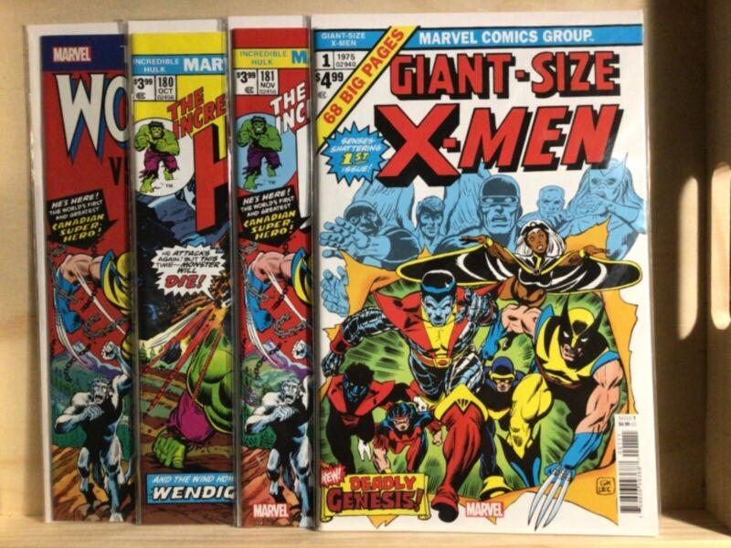 Wolverine X-men Hulk Facsimile Lot