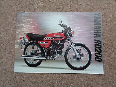 RARE GENUINE ORIGINAL 1977 YAMAHA RD200 MOTORCYCLE BROCHURE GT KH