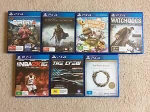 PS4 Games - Various titles Joondalup Joondalup Area Preview