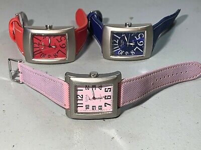 3X NEW MENS WOMENS ACTIVA BY INVICTA TANQUE QUARTZ WATCHES RUNNING