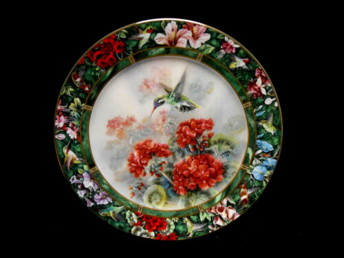 "1993 W.S. George Lena Liu ""The White-eared Hummingbird"" Collector Plate 7&3/4"""