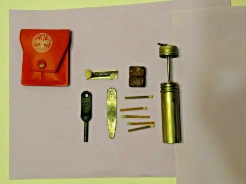 "Vintage BOY SCOUT Match Safe And ""Hot Spark"" Fire Starter Kit"