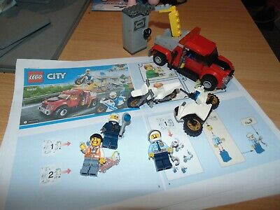 LEGO Sets - 60137 - Tow Truck Trouble (2017) Lego City