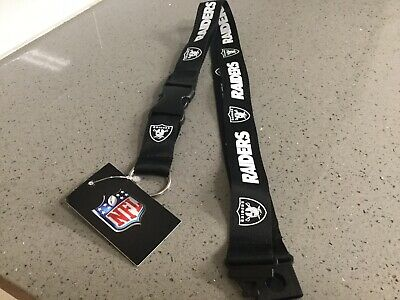Oakland Raiders Nfl Ring (Oakland Raiders Football Team NFL Black Lanyard Key Ring Keychain w/ Safety Clip)
