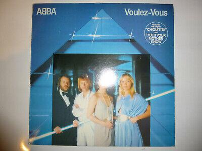"""ABBA – 'Voulez-Vous' 12"""" vinyl album LP. 1979 UK A4/B1. EX+/EX+"""