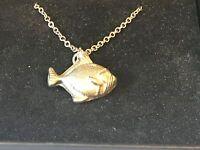 Goldfish Tg149 Pewter On 18, Silver Plated Curb Necklace - goldfish - ebay.co.uk