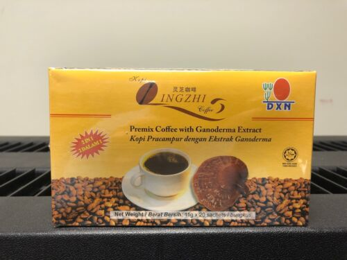 1 Box DXN Lingzhi 2 in 1 Ganoderma Coffee ( 20 Sachets ) Free Ship From USA!