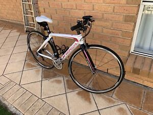 Ladies 48cm full carbon fibre road bicycle as new little use