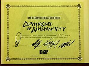 ESP LTD Slayer Seasons in the Abyss with ESP hardcase Hornsby Hornsby Area Preview