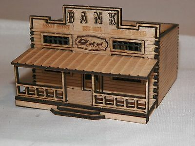 N Scale Old West Bank Kit