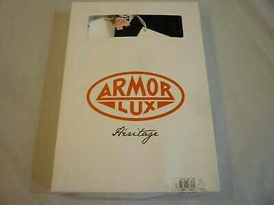 ARMOR-LUX 2 Pack Heritage T-Shirts White & Navy M New With Tags & Box FREE SHIP