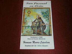 San Pascual Baylon Orito Spain Saint Pascal Baylon Prayer Card Old Calendar