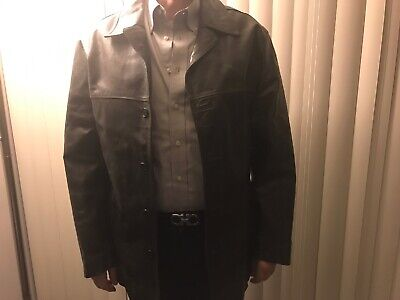 Mens GUESS XL Black Distressed Leather Jacket Was $275