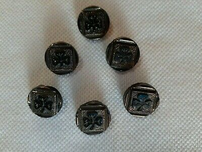 """Vintage Lot of 25 Decorative Silver Metal Relief Upholstery Jacket Buttons 1//2/"""""""