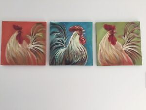 Rooster paintings