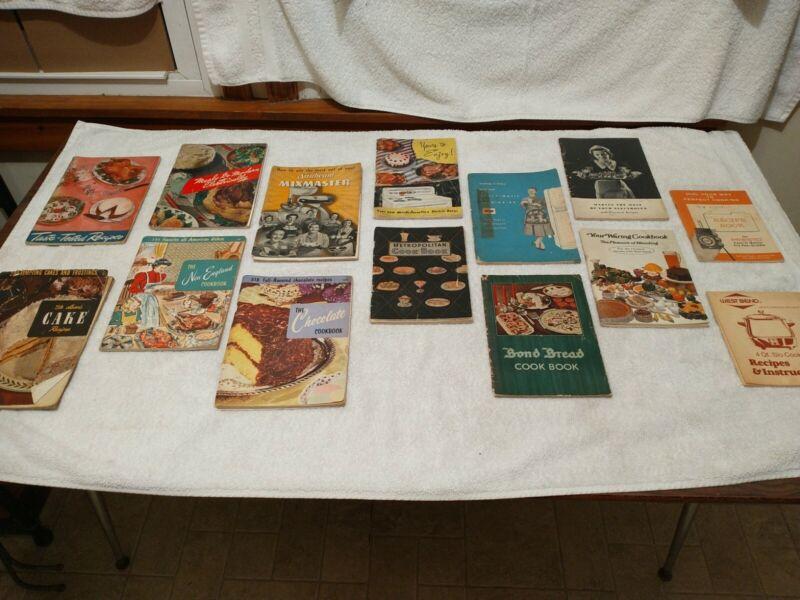 Vintage Lot Recipe Pamphlets