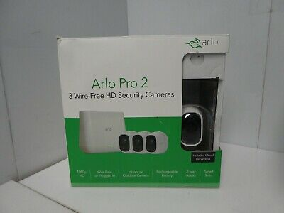 Arlo Pro 2 WiFi HD Wire-Free 3-pack Camera Security System (Arlo Wi Fi Security Camera 3 Pack)