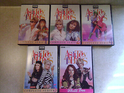 Absolutely Fabulous DVDs Complete Series (Seasons) 1, 2, 4, 5, + White Box DVD
