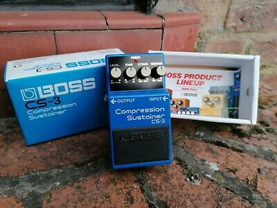 Boss CS-3 Compression Sustainer Guitar Effects Pedal in excellent condition