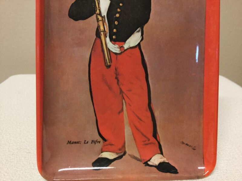 Decorative Crafts Inc Plastic Tray Italy Little Boy Playing Flute