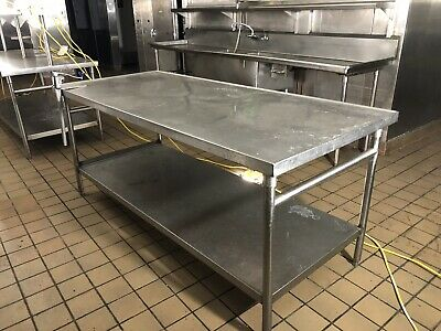 Stainless Steel Commercial Kitchen Food Prep Table - 30 X 84 Great Condition