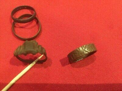 1850s To 1890s Women's rings  x 4  brass, press metal ( Metal detecting Find )