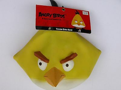 NWT NEW Halloween Costume Adult Angry Bird Mask Yellow Chuck Black - Angry Bird Masks
