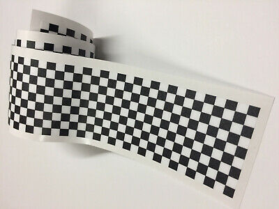 CHEQUERED Flag STRIPES Tape Decal Sticker Scooter Lambretta Vespa bike #a000146