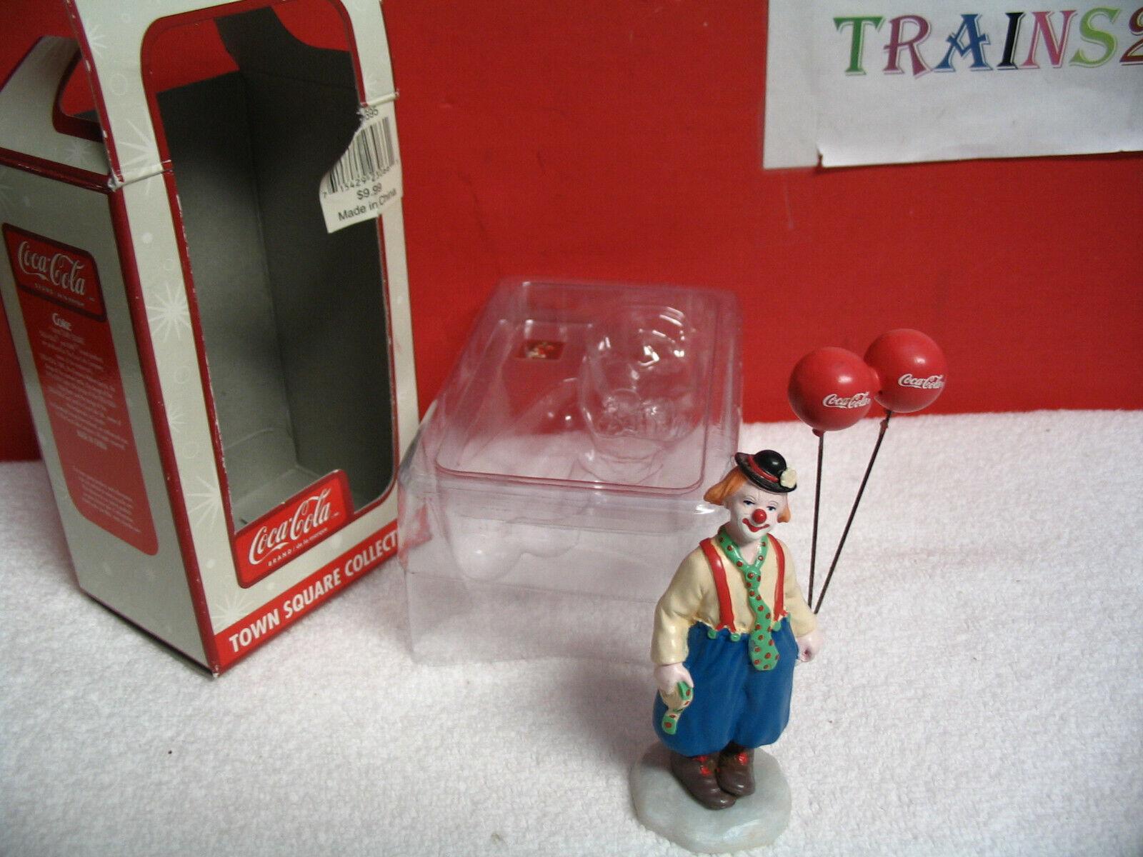 Купить Coca Cola Town Square Accessory Clown With Balloons 2003