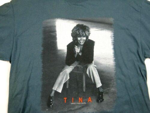 Vintage Tina Turner Twenty Four Seven 2000 Concert T-Shirt XL