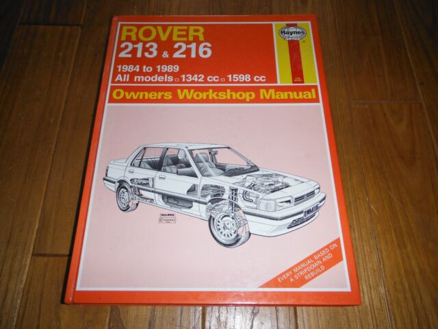 Rover 213 and 216 1984-88 Owner's Workshop Manual by Peter G. Strasman...