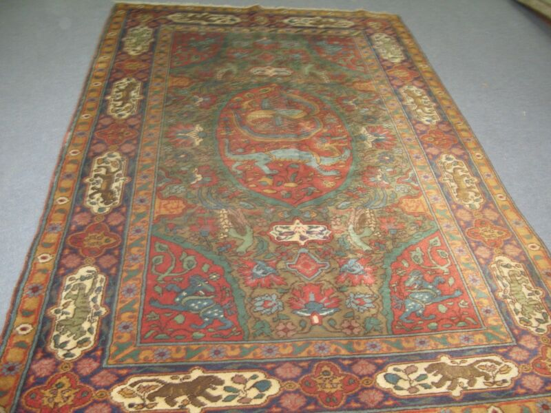 Antique Bulgarian European Rug Hand Knotted Wool 5