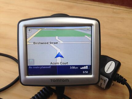 TomTom in car navigation system working