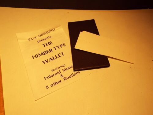 Paul Diamond The Himber Type Wallet Magic Effect Routine Trick Illusion 1975
