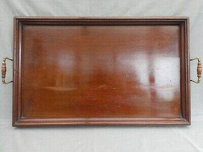 Very Large MAHOGANY BUTLER'S TRAY - 27 inches x 16.5 inches