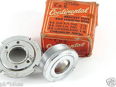 Vintage 10 Speed Bottom Bracket Cup Set 1.37x24-English