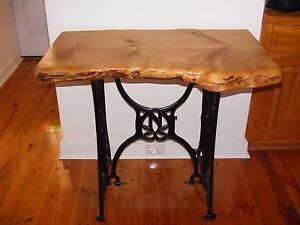 RARE UPCYCLED 100 YR OLD TREADLE / RANDOM SLAB TABLE Morphett Vale Morphett Vale Area Preview