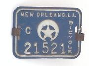 Vintage Bicycle License Plate