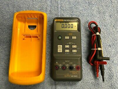 Very Clean Fluke 715 Voltsma Calibrator Meter W Leads