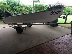Tinnie, outboard and trailer Carina Brisbane South East Preview