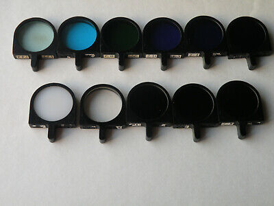 Set Of 11 Glass Filters For Fluorescence Microscope Lomo Zeiss D 318mm