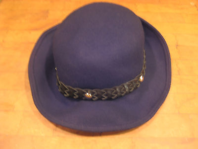 vintage LADIES TOUCAN HAT NY LOS ANGELES black 1/2 upbrim hat