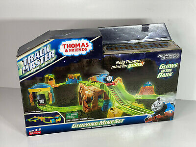 FISHER-PRICE THOMAS & FRIENDS TRACKMASTER GLOWING MINE SET brand new item