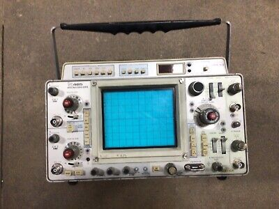 Tektronix 465 100mhz Oscilloscope With Dm43. From Local Power Company