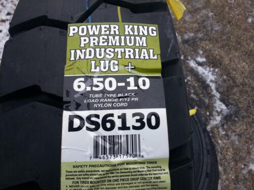 2) Tires 6.50-10 Deestone Forklift Tire12 Ply 6.50x10 650x10 65010 Lift Truck