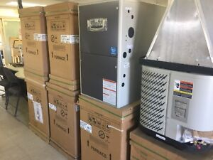 New furnaces and AC units